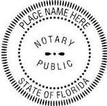 Picture of Notary Public Seal in Florida