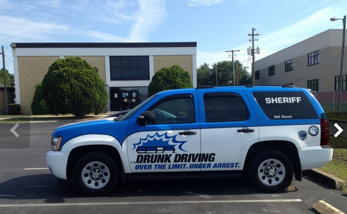 DUI enforcement vehicle in Tampa, Hillsborough County, FL
