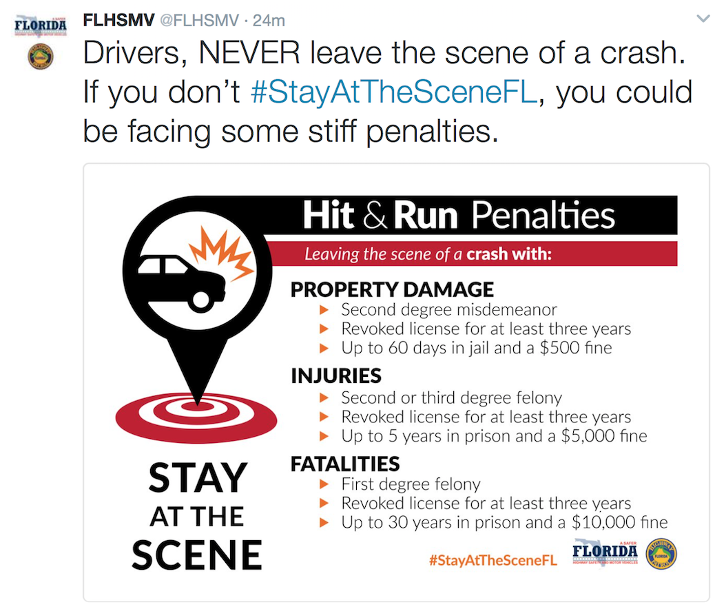 penalties for hit and run crimes in 2017