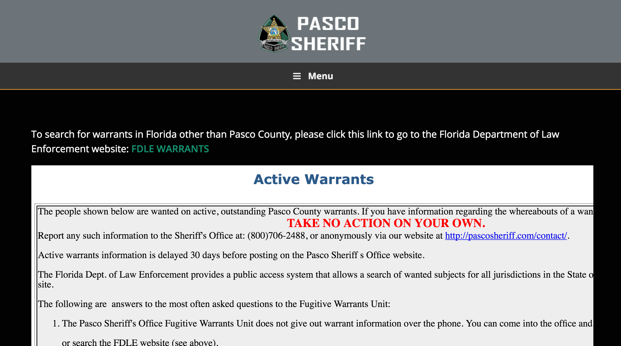 Attorney for Arrest Warrant in Pasco County, FL