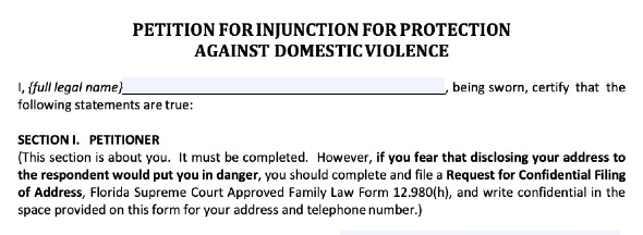 Response to Domestic Violence Injunction
